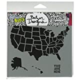 Crafter's Workshop Templates 6X6-U.S. Map by CRAFTERS WORKSHOP