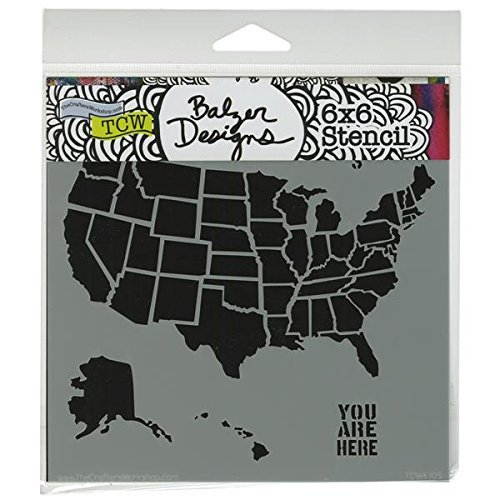 Crafter's Workshop Templates 6X6-U.S. Map by CRAFTERS WORKSHOP by CRAFTERS WORKSHOP