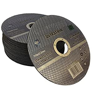 20 x Ultra thin 115 x 1mm stainless steel cuttings dics - metal cutting slitting discs by TZ