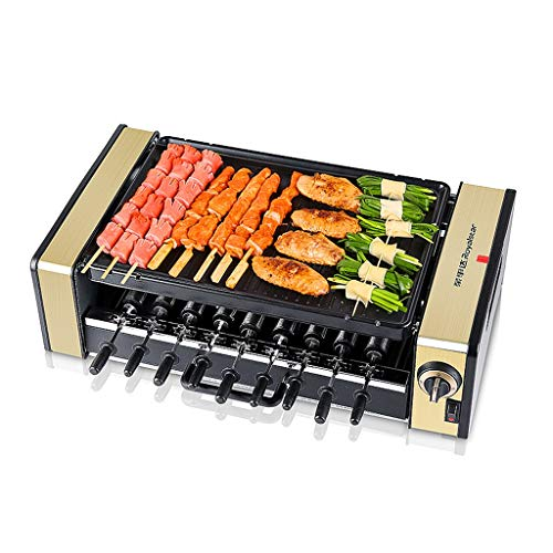 Cheap L&Y Portable Electric Table Top Hot Plate Griddle Cooker Automatic Rotary Grill Large Non-Stick Baking Tray Large Easy Cleanup Cooking 2000W hot sale