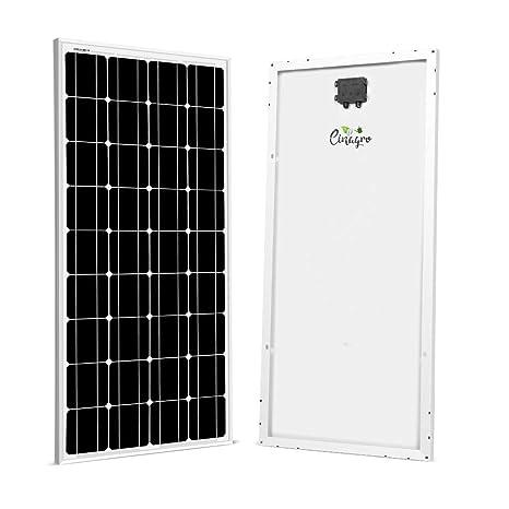 Cinagro 125w Mono Crystalline Photovoltaic Pv Solar Panel Module Durable 12v Amazon In Garden Outdoors