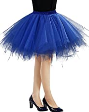 Imixshop Women's Classic Layered Tutu Tulle Skirt Mini A-Line Party Petti