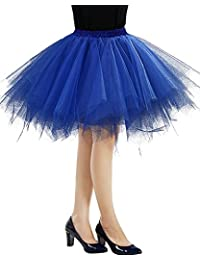 Women's Classic Layered Tutu Tulle Skirt Mini A-Line Party Petticoat