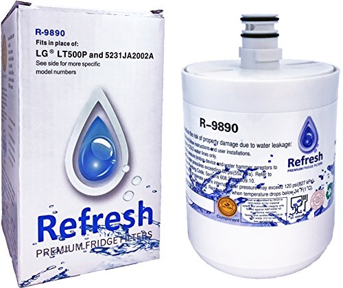 LG LT500P, 5231JA2002A Water Filter for Refrigerator Replacement - LG Water Filters ADQ72910901, Kenmore 46-9890, 469890, 9890 (Filter 5231ja2002a compare prices)
