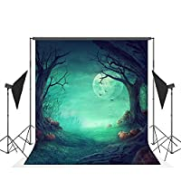 5X7FT Halloween Theme Photography Backdrops Cloth Customized Light Green Pumpkins Photo Studio Background Props