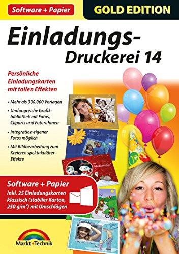 Einladungs Druckerei 14 Mit Papier Amazon De Software