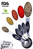 PREMIUM Stackable Magnetic Measuring Spoons Set by Integrity Chef - Metal Measuring Spoons Set, Teaspoon Tablespoon Measuring Spoon Set, Measuring Spoons Stainless Steel Measuring Spoons, SAVE A LIFE!