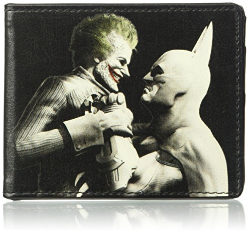 Buckle-Down Wallet Arkham City Batman & Joker Fight Pose Black/grays/whi Accessory at Gotham City Store