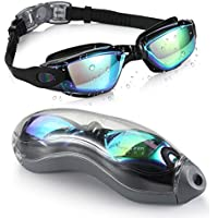 Aegend Swim Goggles No Leaking Anti Fog UV Protection Triathlon Swim Goggles With Free Protection Case for Adult Men Women Youth Kids Child, Multi-Choice (Multiple color)