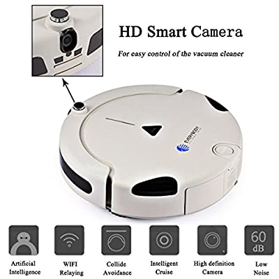 EVERYBODY X1 Intelligent Robot Vacuum Cleaner for Pets and Allergies with FREE Mobile App and Smart Camera Remote control and Self Charge 2-Year Warranty
