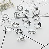 Generic 925 sterling silver Thai silver cross chain black agate irregular asymmetric ring opening retro women girls lady index finger