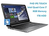 HP Pavilion 15.6″ Flagship Laptop, 6th Gen Skylake Intel i7-6700HQ Quad-Core Processor(6M Cache, up to 3.5 GHz), FHD IPS Touchscreen, 8GB DDR3, 1TB HDD, DVD, HDMI, 802.11AC, Windows 10