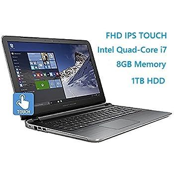 "HP Pavilion 15.6"" Flagship Laptop, 6th Gen Skylake Intel i7-6700HQ Quad-Core Processor(6M Cache, up to 3.5 GHz), FHD IPS Touchscreen, 8GB DDR3, 1TB HDD, DVD, HDMI, 802.11AC, Windows 10"