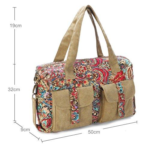 Generic - Bolso estilo cartera para mujer multicolor multicolor 50CM x 32CM x 9CM