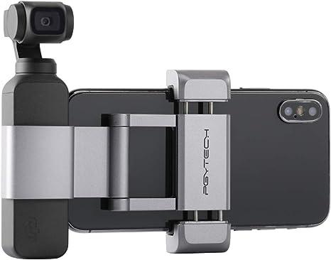 RC GearPro f/ür DJI Osmo Pocket Aluminium-Handheld-Halter Faltbarer Telefonadapter f/ür OSMO Pocket Gimbal-Kamera