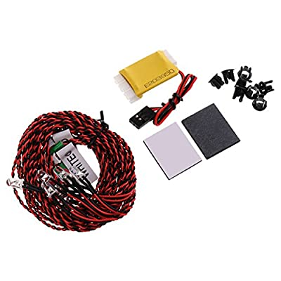 MonkeyJack Flash RC LED Light Kit for RC Helicopter Airplane Aircraft Plane 8 LED Lighting System: Toys & Games