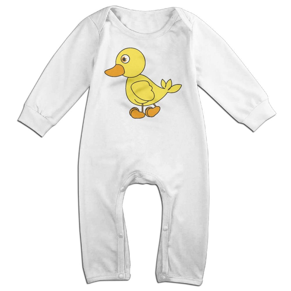 Mri-le1 Baby Girls Coverall Cartoon of A Rubber Duck Baby Clothes