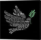 Names of Jesus Dove Silhouette Black by Inspire Me Canvas Art Wall Picture, Gallery Wrap, 37 x 37 inches
