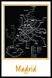 Madrid Spain Subway map wall art decor by Buttered Kat