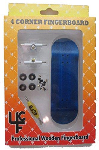 4CFB Complete Wooden Fingerboard HC Mold Blue Deck: Bearing Wheels