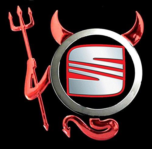Seat - Devil Teufel Auto Logo car Schwarze Langarmshirt -231-LA