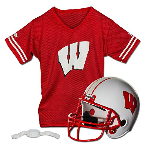 Franklin Sports NCAA Wisconsin Badgers Helmet and Jersey Set
