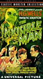 The Invisible Man [VHS]