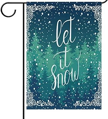 Bandera de Navidad para jardín de nieve, cartel de casa de ...
