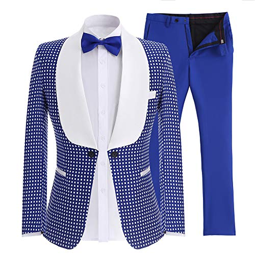 [해외]SOLOVEDRESS 남성 투피스 턱시도 신랑 정장 원 버튼 슬림 핏 비즈니스 슈트 블레이저 / SOLOVEDRESS Men`s Two-Piece Tuxedo Groomsmen Suits One Button Slim Fit Business Suits Blazer
