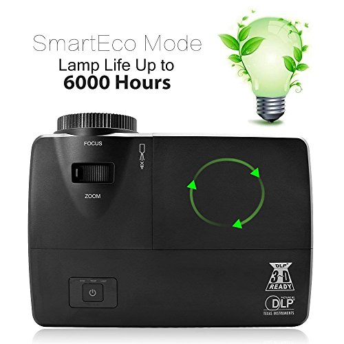 EUG DLP Video Projector - XGA Display, 3600 Lumens,12000:...
