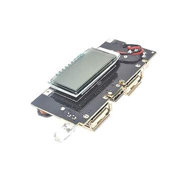 Dual USB 5V 1A 2.1A Banco de energía móvil 18650 Cargador de ...