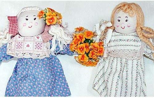 おもちゃ  布人形  カントリードール  三つ編みの女の子&コードヘアの女の子   プリティギフトセット2個組 幼児教育