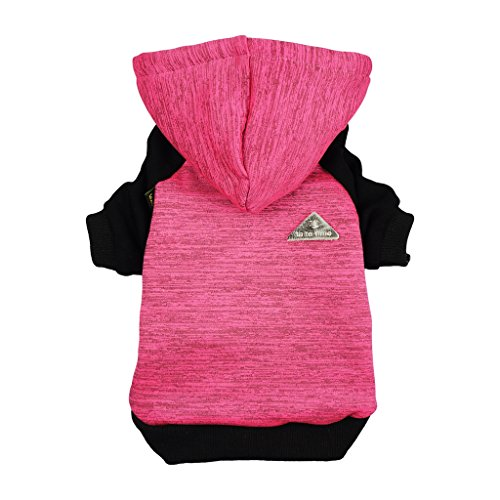 Fitwarm Pet Clothes Sweatshirts for Dog Coats Hooded Jackets, Pink, Medium