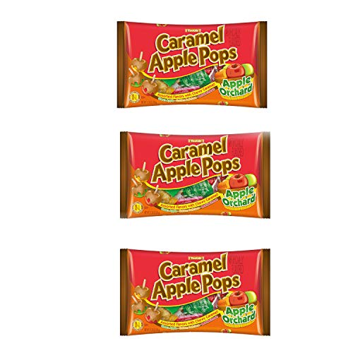 Tootise Assorted Caramel Apple Pops Apple Orchard 11.25 Oz 3 Packages