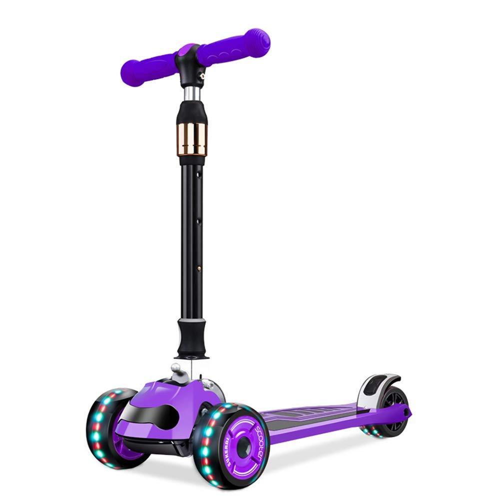CMXIA Scooter per Bambini Adatto per 3 Anni 6 Anni Flash motorino 3 Ruote di Colorei Multipli Disponibili ( Colore   viola )