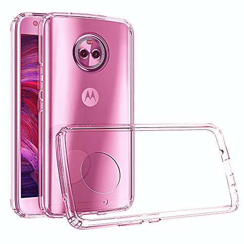 Android One Moto X4 Case, Moto X4 2017 Case,Yiakeng Dual Layer Shockproof Wallet Armor Soft Glitter Silicone Crystal Phone Cases Full Cover for Motorola Moto X4 (Pink)