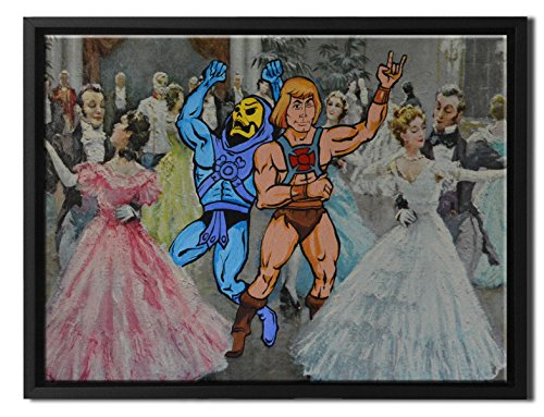 David Irvine Signed Authentic Official Pop Dance Hall Days He Man Skeletor Party Framed Canvas Wall Art at 16in by 20in SFCNVDRV009