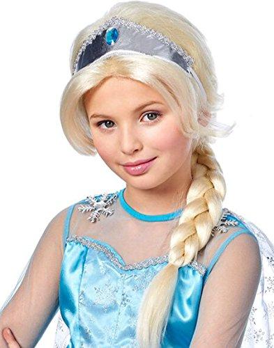 Kids Crystal Princess Braided Platinum Wig - Franco Apparel