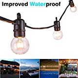 25ft G40 Globe Outdoor String Lights, Weatherproof String Light with 25 E14 G40 Incandescent Bulbs + 3 Spare Bulbs, Heavy Duty, Improved Waterproof, End to End, CE Listed Hanging Indoor/Outdoor String Light for Garden, Patio, Yard, Home, Christmas Tree, Pa