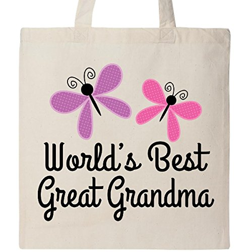 Inktastic - Great Grandma Gifts Butterflies Tote Bag Natural 2a578