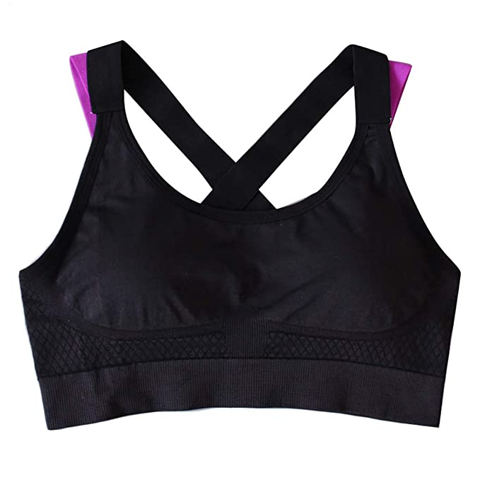 Amazon.com: Malbaba Womens Strappy Sports Bra Impact ...