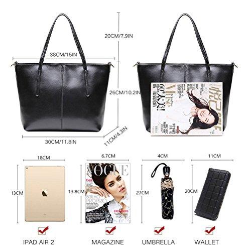 Black Bag L Plated Shoulder Silver Leather Fmeida For Women qwvx0fgP