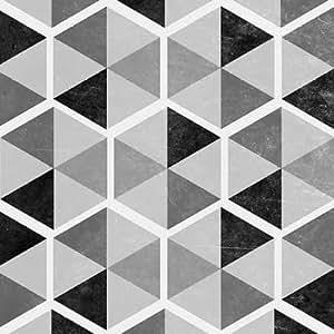 feelingathome. it, impresión sobre lienzo 100% algodón sin gris Pattern I cm 61x 61cm (personalizables a opcional)