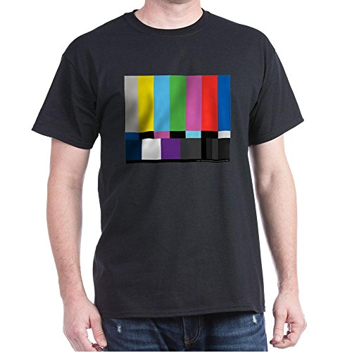 CafePress SMPTE Standard Definition Television Color Bars EG 100% Cotton T-Shirt Black