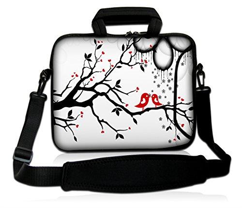 DCCN 15 Zoll / 15,6 Zoll Laptoptasche Neopren Notebooktasche mit Zubehörfach und Schultergurt