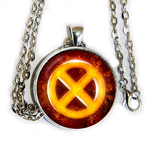 (X Men Dark Phoenix inspired - pendant necklace -)