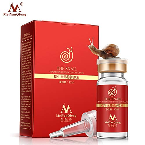 Snail 100% pure plant extract Hyaluronic acid liquid whitening blemish serum ampoules anti-acne Rejuvenation Serum