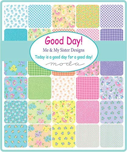 Good Day Mini Charm Pack por Me & My Sister Designs; Cuadrados de tela precortada de 42 a 2,5 pulgadas: Amazon.es: Amazon.es