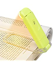 DEWENWILS Book Reading Light, Amber Book Light for Reading in Bed, USB Rechargeable, 3 Brightness Levels, Blue Light Blocking, LED Clip-on Reading Light for Kids, Bookworms, Green