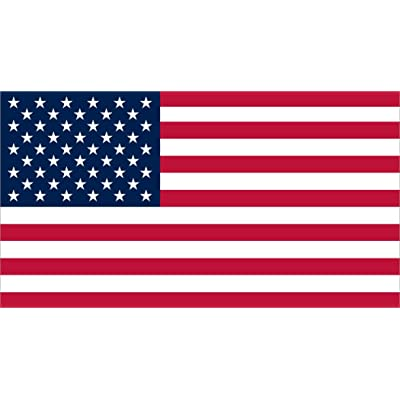 StickerTalk Proportional USA Flag Vinyl Sticker, 7 inches by 3.8 inches: Automotive